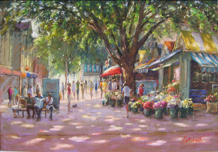 Norwich Market finished painting