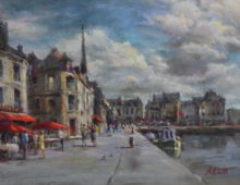 Billowing Clouds over Honfleur
